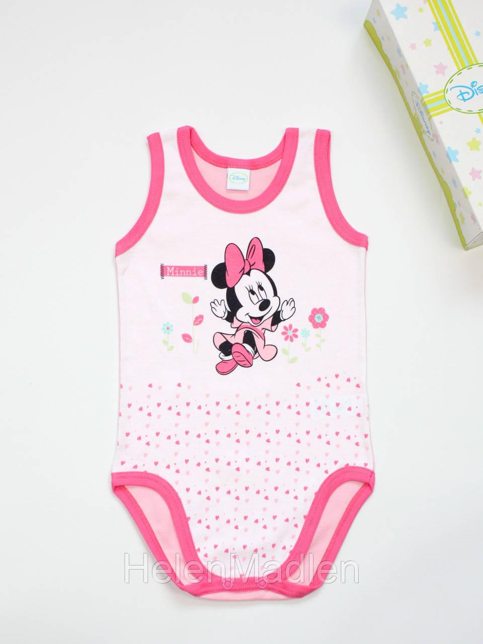 Боди детское Ellepi Disney Baby для девочек розовое Италия AF4098