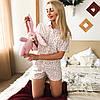 Пижама женская MODENA P032-1 (рубашка и шорты)