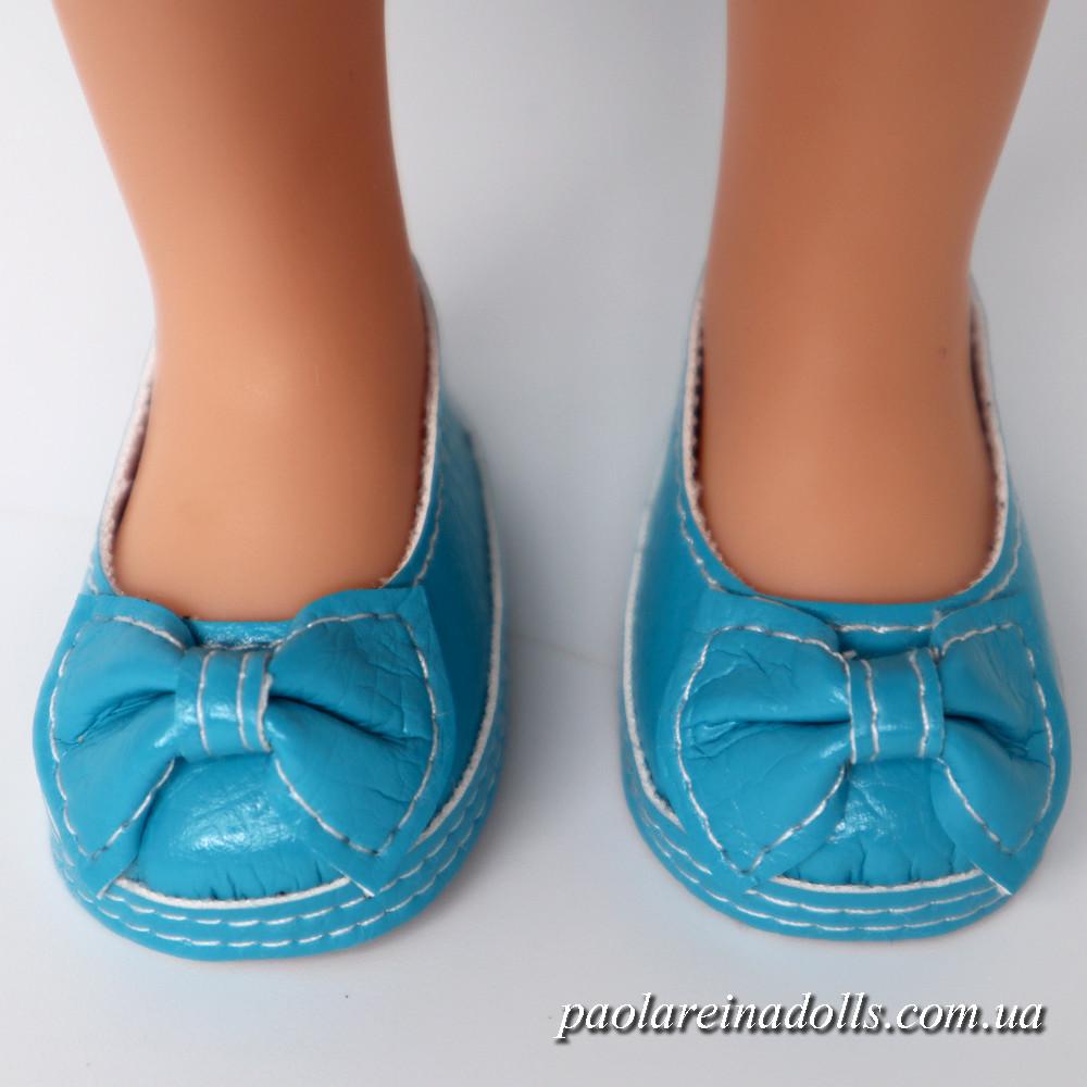 Туфли бирюзовые для кукол Паола Рейна