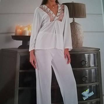 Нежная женская пижама с кружевом, размер 48-50, Турция
