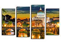 Модульна картина Архітектура Риму 1290*800 мм. Код-09120 Т-23