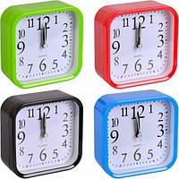 От 2 шт. Настольные часы - будильник Х2-17/806 с закругленными углами 9,5*9,5*4см купить оптом в интернет