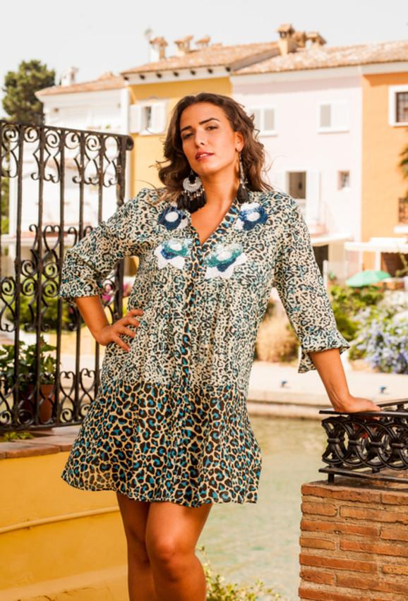 Туника-рубашка женская летняя из тонкого хлопка Индиано 1156