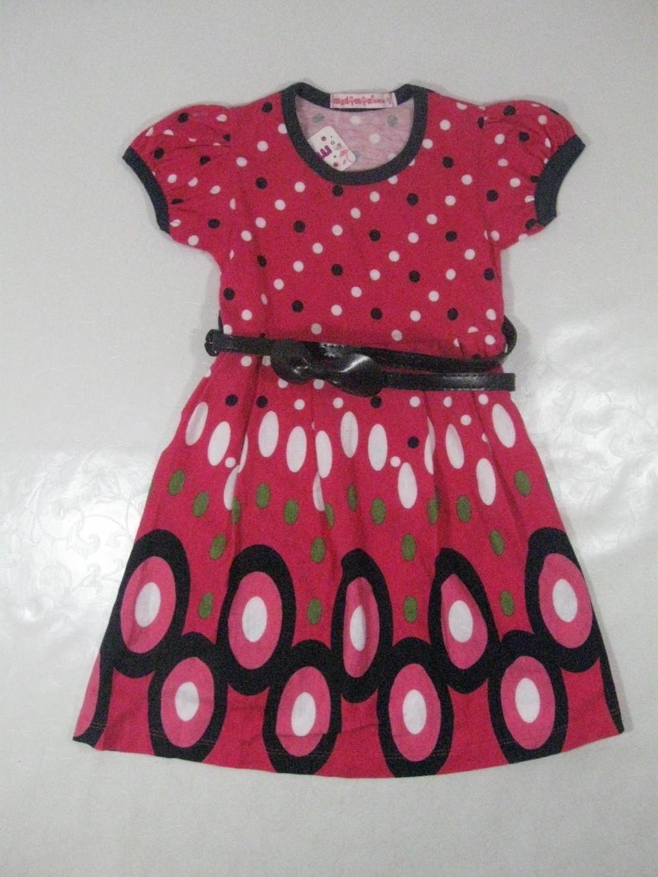 Платье трикотажное для девочек, размеры 98,110,116,122 CP-809