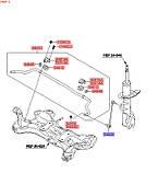 Тяга стойка стабилизатора переднего киа Сид 2, KIA Ceed 2012-15 JD, 548300u000, фото 3