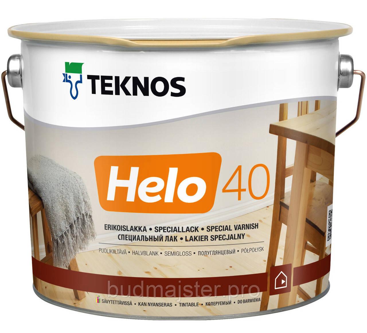 Лак Teknos Хело 40, напівглянцевий 2,7 л
