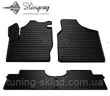 Резиновые коврики  SEAT Alhambra I 1996- (Сеат Альхамбра) количество 4 штуки