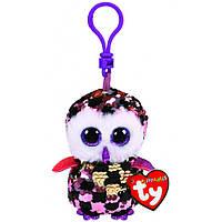Мягкая игрушка с пайетками TY FLIPPABLES Сова «CHECKS» 12см