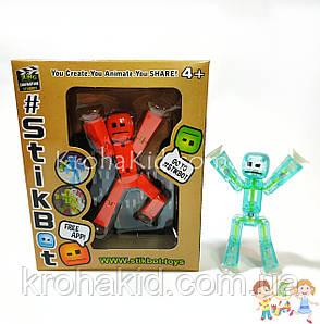 Фігурка чоловічка StikBot для анімаційного творчості TST616 в коробці (кольори в асортименті), фото 2
