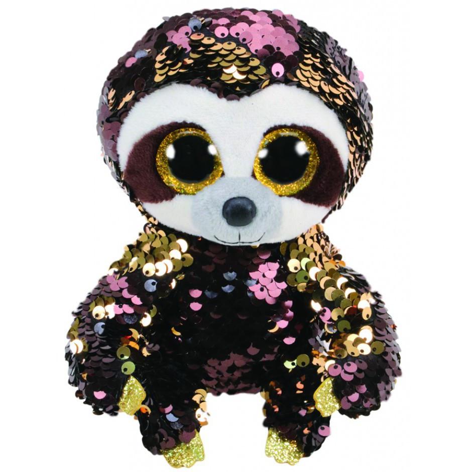 """Мягкая игрушка с пайетками TY FLIPPABLES 36668 Ленивец """"DANGLER"""" 15см"""