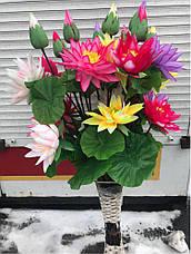 Искусственные цветы.Искусственная ветка лотос., фото 3