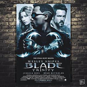 Постер Blade, Блэйд. Размер 60x41см (A2). Глянцевая бумага