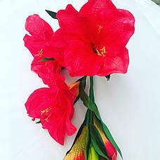 Искусственный амариллис.Ветка для напольной вазы., фото 2