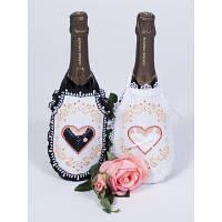 Фартуки на бутылку под вышивку свадебные