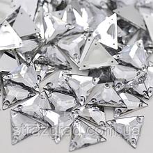 17мм. Трикутники пришивні З/С. Crystal