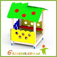 Деревянный детский домик на улицу Цветочек P35