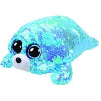 Мягкая игрушка с пайетками TY FLIPPABLES Тюлень «WAVES» 15см