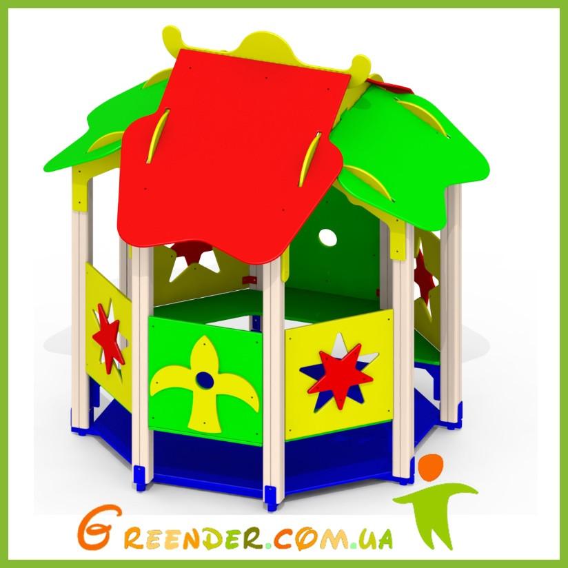 Домик из дерева детский игровой «Звездочка» Р30