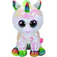 Мягкая игрушка с пайетками TY FLIPPABLES Белый единорог «PIXY» 25см
