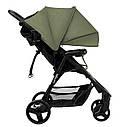 Детская прогулочная коляска оливковая Carrello Maestro черная рама чехол на ножки подстаканник дождевик, фото 2
