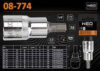"""Головка 1/2""""- 55мм с 6-гр насадкой H10, NEO 08-774"""