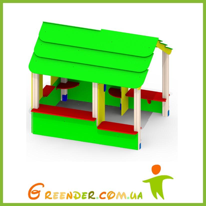 Домик деревянный цветной «Хатынка» Р28