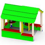 Домик деревянный цветной «Хатынка» Р28, фото 2