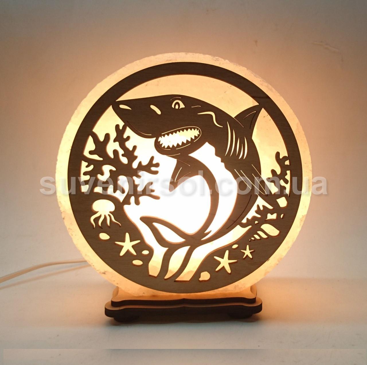Соляной светильник круглый Акула