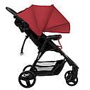 Детская прогулочная коляска красная Carrello Maestro черная рама чехол на ножки подстаканник дождевик, фото 2