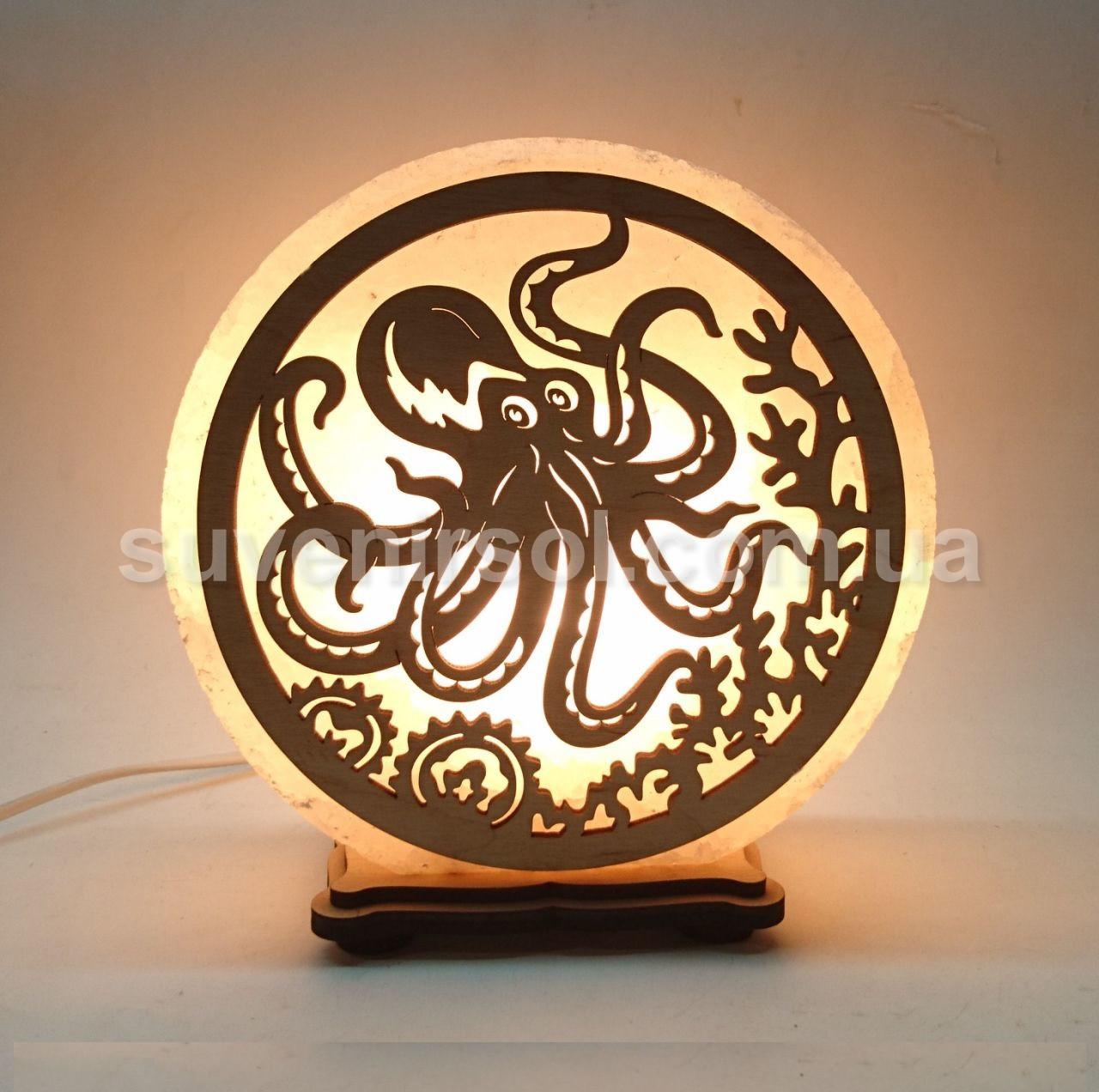 Соляной светильник круглый Осьминог
