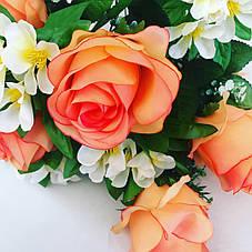 Искусственная роза с жасмином., фото 3