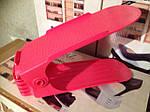 Двойная стойка подставка для хранения обуви, подставка под обувь Shoe Slotz оригинал ! Красный