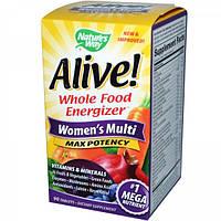 """Комплекс витаминов и минералов для женщин """"Максимальная Энергия"""", Nature's Way, 90 таблеток"""