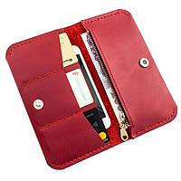 1c21163e3269 Киев. Женский красный кожаный кошелек из натуральной кожи ручной работы  Revier