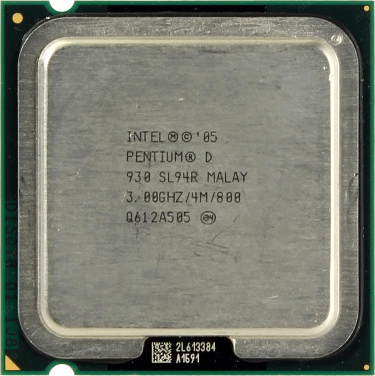 Процессор Intel Pentium D 930 3.00GHz/4M/800 (SL94R) s775, tray