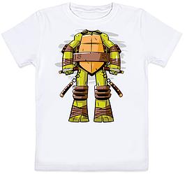 """Детская футболка """"Черепашка ниндзя!"""" (белая)"""