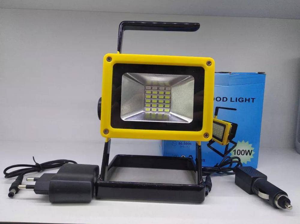 BL-204 Уличный ручной LED фонарь - прожектор на АКБ 1-3х18650