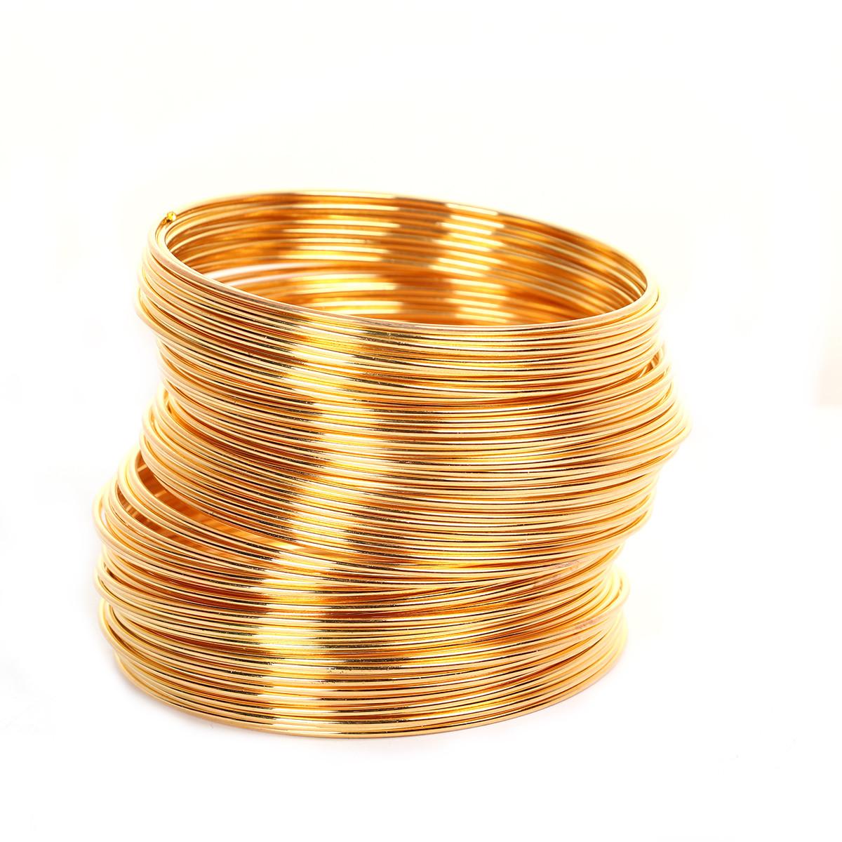 Металлическая проволока память 55мм золото для рукоделия