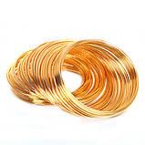 Металлическая проволока память 55мм золото для рукоделия, фото 2