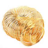 Металлическая проволока память 55мм золото для рукоделия, фото 3