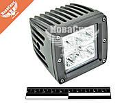 Фара светодиодная LED 24W 6000К (OFF ROAD) (80х75х82мм.)   BOL 0604S