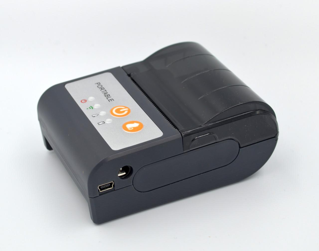 Мобильный чековый принтер 58мм AW-58C AsianWell беспроводный, bluetooth, Android, Windows, iOS