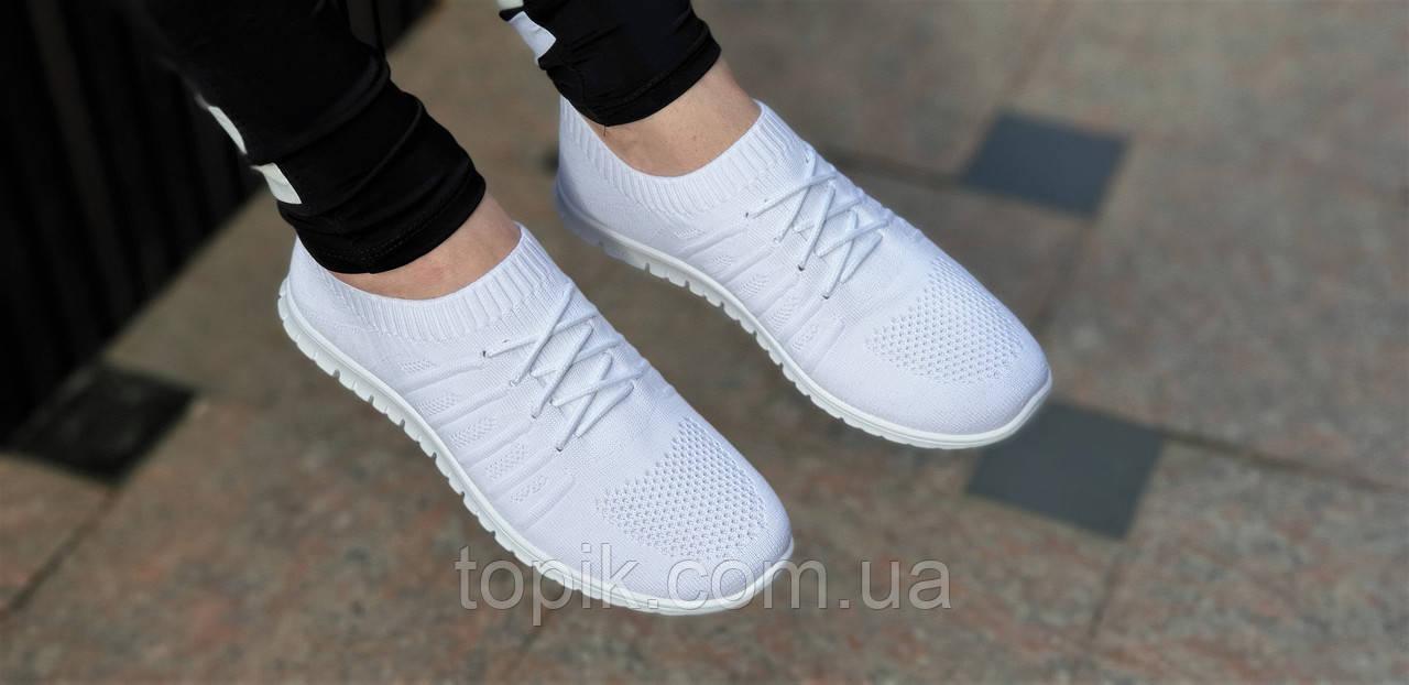 5c0eb523 ... Элегантные женские мокасины белые из прочного текстиля на весну лето,  мягкая удобная подошва (Код ...