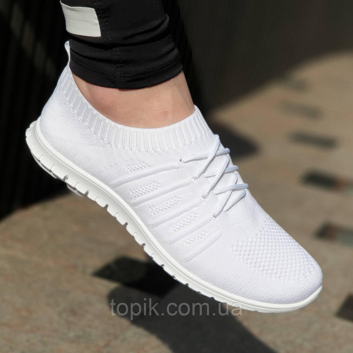 b7a124ea Элегантные женские мокасины белые из прочного текстиля на весну лето,  мягкая удобная подошва (Код