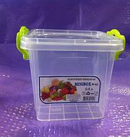 Контейнер пищевой пластиковый Lux 0.6 л