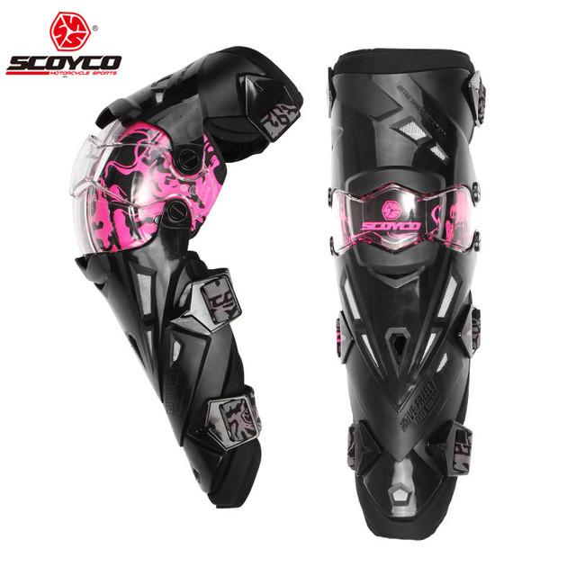 Мотонаколенники Scoyco K12 Pink
