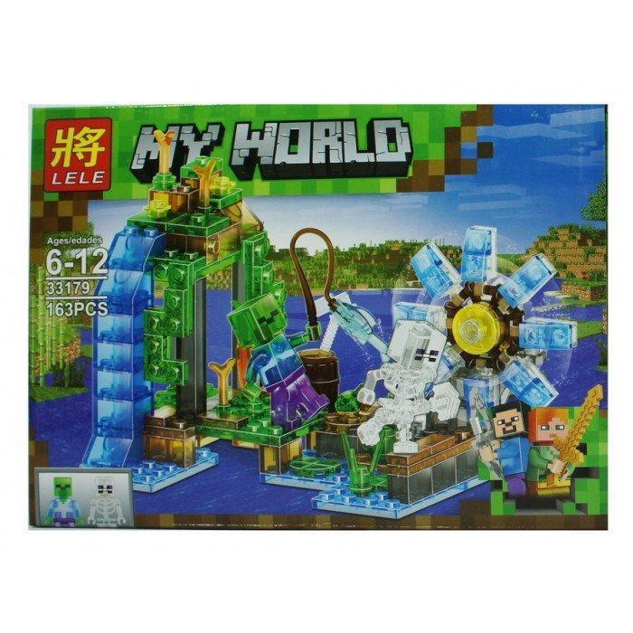 Конструктор Lele My World 33179 Водяная мельница ( 2 в 1 ) 163 деталей (аналог Lego Майнкрафт, Minecraft)