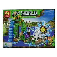 Конструктор Lele My World 33179 Водяная мельница ( 2 в 1 ) 163 деталей(аналог Lego Майнкрафт, Minecraft)