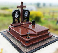 Эксклюзивный двойной гранитный надгробный памятник  Модель  D-02