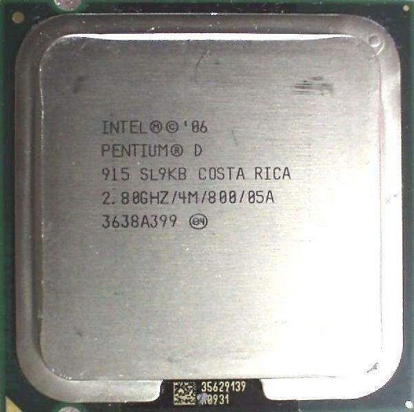 Процессор Intel Pentium D 915 2.80GHz/4M/800 (SL9KB) s775, tray